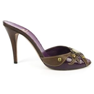 Moschino Cheap and Chic Purple Brown Heels Size 39